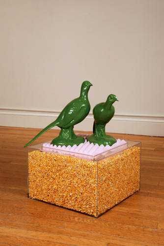 Rooster, Hen and a Bushel of Corn, 2008