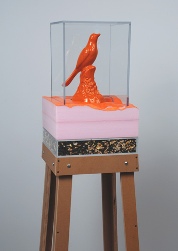 Orange bird with seed, 2008